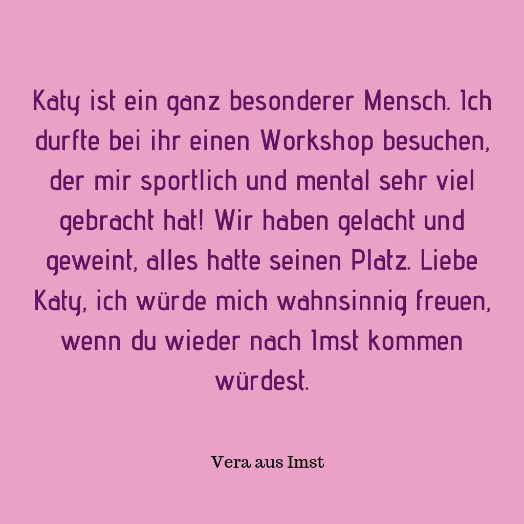 Der Workshop in Wien war motivierend & mutmachend, aktivierend & achtsam - DANKE dir SEHR dafür, liebe Katy!